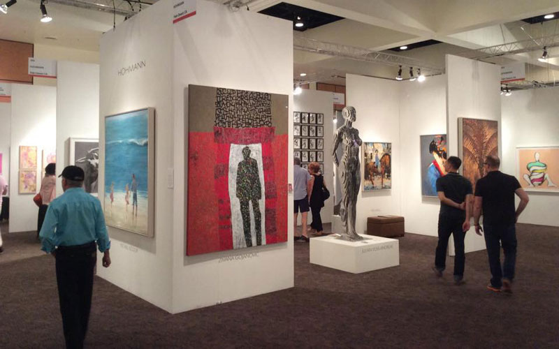 Michael Azgour at Palm Springs Fine Art Fair (2015)