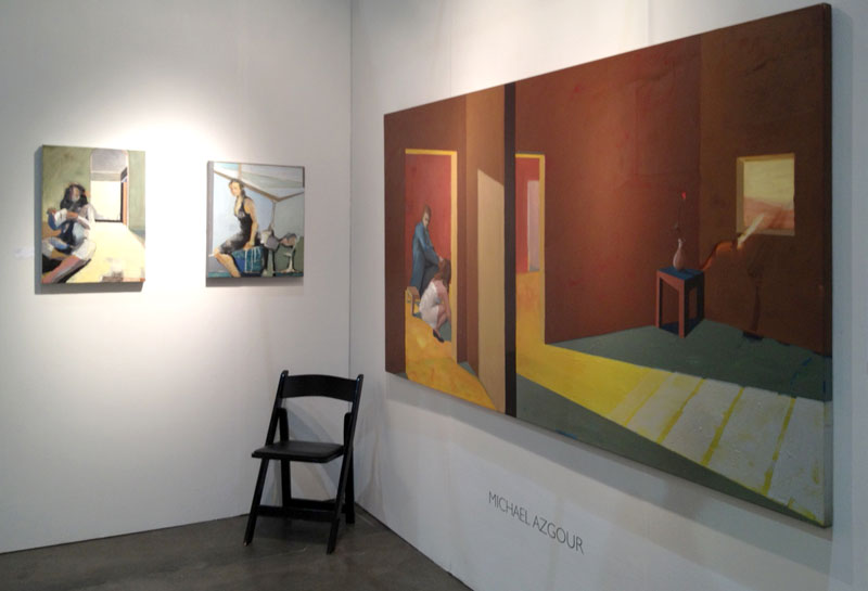 Michael Azgour at Los Angeles Art Show