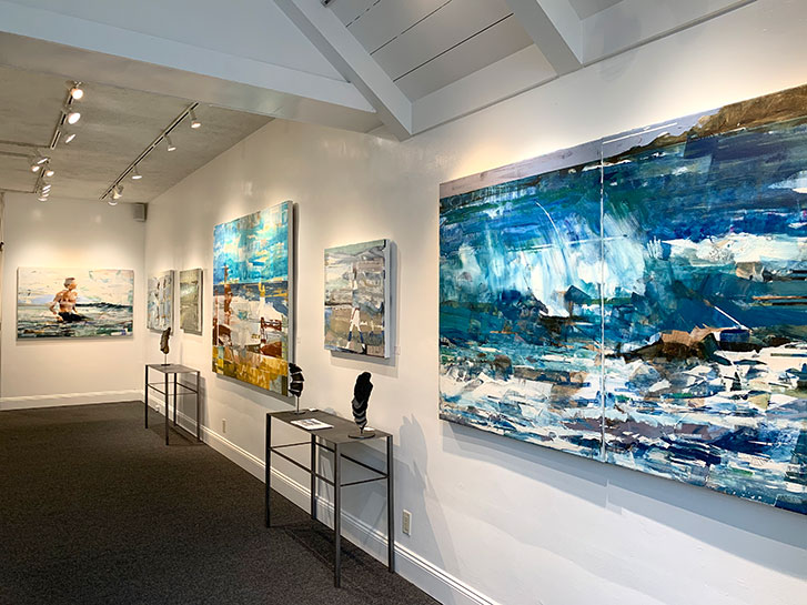 Artist Michael Azgour at Gallery MAR Carmel