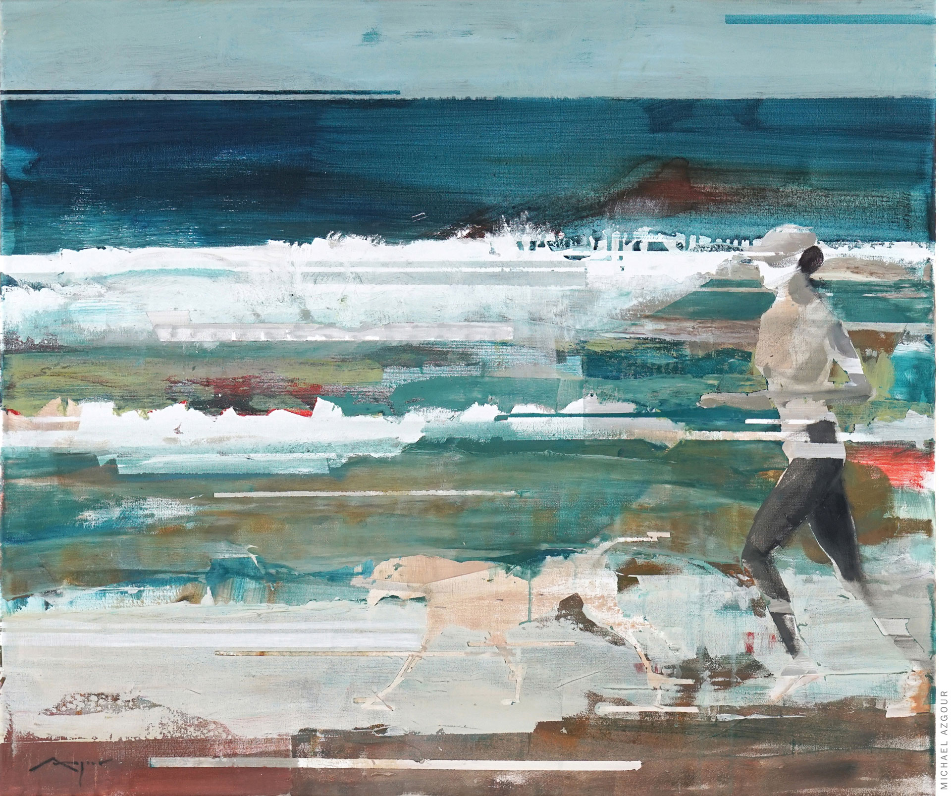 Runner and Her Dog, by Michael Azgour