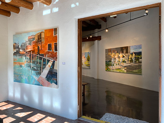 Michael Azgour exhibiting paintings at GF Contemporary in Santa Fe, NM